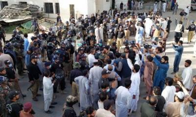بلوچستان اسمبلی میں اپوزیشن کے17 اراکین اسمبلی نے گرفتاری دے دی
