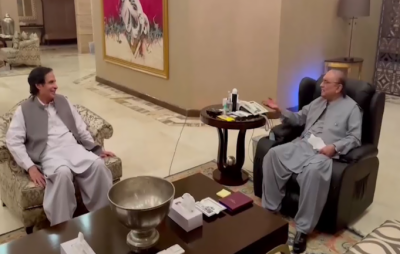 اسپیکر پنجاب اسمبلی پرویزالہٰی کی آصف علی زرداری سے ملاقات، ملکی سیاسی صورتحال پر تبادلہ خیال