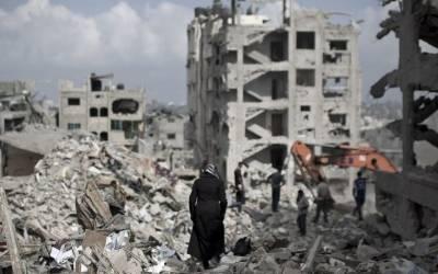 غزہ:اسرائیلی بمباری سے تباہ عمارتوں کے ملبہ کو ٹھکانے لگانے کیلئے مشکلات کا سامنا