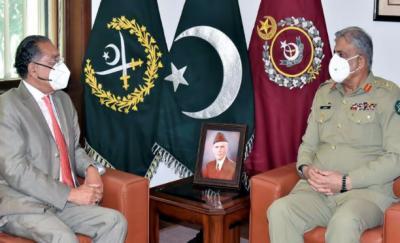آرمی چیف سے منیر اکرم کی ملاقات, افغانستان مصالحتی عمل اورتنازعہ کشمیر پر تبادلہ خیال