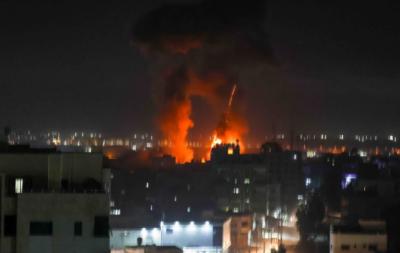 اسرائیلی طیاروں کی سیز فائر کے باوجود تیسری بار غزہ پر شدید بمباری