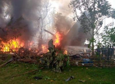 فلپائن : فوجی طیارے کے حادثے میں ہلاک افراد کی تعداد 45 ہوگئی