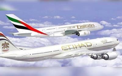 پاکستان سے ایمریٹس اور اتحاد ایر لائنز کا فلائٹ آپریشن مزید معطل رکھنے کا فیصلہ