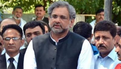 اسلام آباد۔۔نیب کے ہوتے ہوئے ملک ترقی نہیں کرسکتا :- شاہد خاقان عباسی
