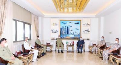 آرمی چیف کی قطر کے نائب وزیراعظم، وزیر دفاع اور چیف آف اسٹاف سے ملاقاتیں, پاکستان ، قطر تمام شعبوں میں تعاون بڑھانے کے خواہاں ہیں: آرمی چیف