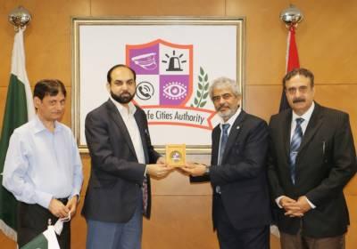 ایم ڈی نیشنل ٹیلی کیمونیکیشن کارپوریشن معراج گل کا پنجاب سیف سٹیز اتھارٹی کا دورہ