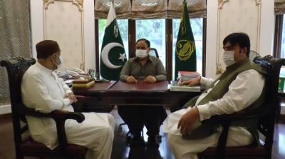 وزیراعلیٰ پنجاب سردارعثمان بزدارسے وفاقی وزیر صاحبزادہ محمد محبوب سلطان کی ملاقات