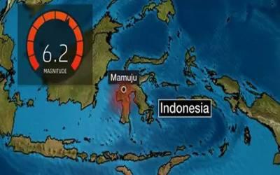 انڈونیشیا میں 6.2 شدت کا زلزلہ
