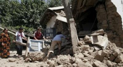 تاجکستان میں زلزلہ، 5 افراد ہلاک