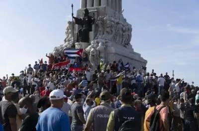 کیوبا میں ہزاروں افراد کا معاشی مشکلات کے سبب حکومت کے خلاف مظاہرہ