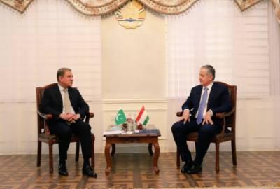 وزیر خارجہ مخدوم شاہ محمود قریشی کی تاجکستان کے وزیر خارجہ سراج الدین مہرالدین، سے ملاقات.