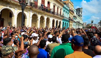 کیوبا،ہزاروں افراد کی حکومت کیخلاف احتجاجی مظاہرے میں شرکت