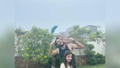 شاہد آفریدی نے گزشتہ روز ہونے والی بارش کی تصاویر انسٹاگرام پر شیئر کیں