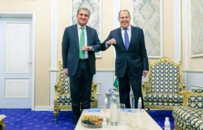 شاہ محمود قریشی کی روسی وزیر خارجہ سرگئ لیوروف سے ملاقات
