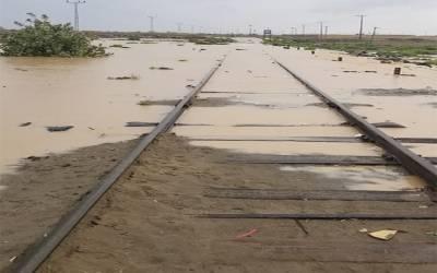 طوفانی بارشوں کے باعث پاک ایران ریل سروس معطل