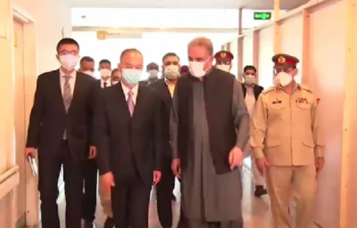 وزیر خارجہ کا چینی سفیر کے ہمراہ سی ایم ایچ کا دورہ ، داسو واقعہ میں زخمی ہونے والے چینی شہریوں کی عیادت