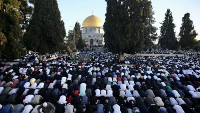 مسجد اقصیٰ میں عیدالاضحیٰ کی نماز کا بڑا اجتماع، ہزاروں افراد کی شرکت