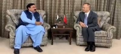 وزیرداخلہ شیخ رشید سے چینی سفیر کی ملاقات