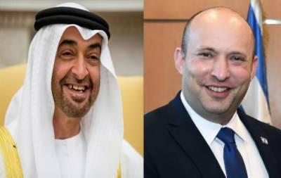 امارات کے ولی عہد اور اسرائیلی وزیراعظم کے درمیان ٹیلی فون پر بات چیت