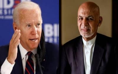 امریکی صدر او رافغان صدر کے درمیان ٹیلیفون پر رابطہ،ہرممکن مدد کی یقین دہانی