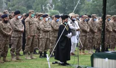 آزاد جموں وکشمیر میں شہید پاک فوج کے اہلکاروں کی نمازِجنازہ ادا کردی گئی