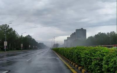 اسلام آباد اورراولپنڈی میں بارش سے موسم خوشگوار ہوگیا۔