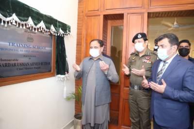 وزیراعلیٰ پنجاب سردار عثمان بزدارکا کاؤنٹر ٹیرارزم ڈیپارٹمنٹ کے ہیڈ کوارٹر کا دورہ