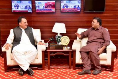 وفاقی وزیر اطلاعات چوہدری فواد حسین سے گورنر بلوچستان سید ظہور احمد آغا کی ملاقات