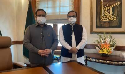 وزیر اعلیٰ پنجاب سردار عثمان بزدار سے چیئرمین وزیر اعلیٰ شکایات سیل سرگودھا ڈویژن حسن انعام پراچہ کی ملاقات
