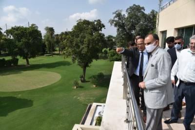 وفاقی وزیر ریلوے محمد اعظم خان سواتی نے چیف ایگزیکٹوآفیسر پاکستان ریلویز نثار احمد میمن کے ہمراہ رائل پام گالف اینڈکنٹری کلب کا دورہ کیا