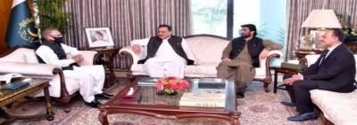 صدر عارف علوی سے قائم مقام اسپیکر قومی اسمبلی ، محمد قاسم خان سوری اور گورنر بلوچستان ، سید ظہور آغا، کی ملاقات