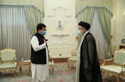 چیئرمین سینیٹ صادق سنجرانی کی ایرانی نومنتخب صدر سے ملاقات