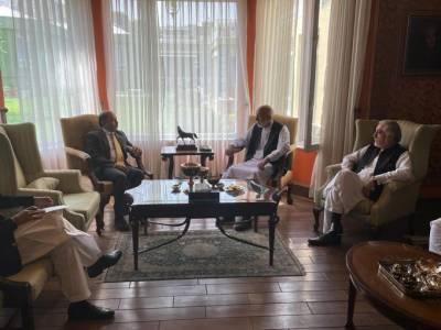 افغانستان میں پاکستان کےسفیرکی عبداللہ عبداللہ اورحامدکرزئی سےملاقات