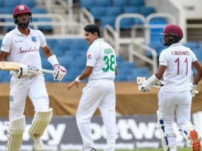 دوسرا ٹیسٹ: 329 رنز کے تعاقب میں ویسٹ انڈیز کی بیٹنگ جاری, پاکستان کو جیت کیلیے 8 وکٹیں درکار