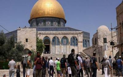 یہودی شرپسندوں کی جانب سےمسجد اقصیٰ کی بے حرمتی