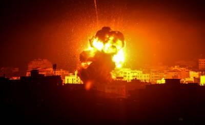 اسرائیلی طیاروں کے ذریعے غزہ کی پٹی پر پھر بمباری
