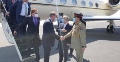 وزیر خارجہ ایران کے دورہ پر پہنچ گئے
