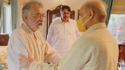 شہباز شریف کی مسلم لیگ فنکشنل کے سربراہ پیرپگاڑا سے ملاقات
