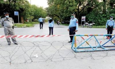 کورونا کیسز میں اضافہ:اسلام آباد کے7 علاقوں میں سمارٹ لاک ڈائون،نوٹیفکیشن جاری