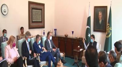 وزیراعظم عمران خان سے جرمن وزیر خارجہ کی وفد کے ہمراہ ملاقات, افغانستان سمیت پاکستان اور جرمنی کے تعلقات پر تبادلہ خیال