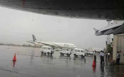 کراچی میں ممکنہ بارشیں:سی اے اے نےایئرپورٹ پر الرٹ جاری کردیا