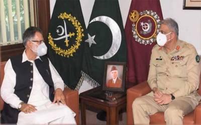 آرمی چیف جنرل قمرجاوید باجوہ سے وزیراعظم آزادکشمیر عبدالقیوم نیازی نے ملاقات