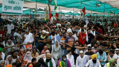 بھارت میں کسانوں کی تحریک زوروں پر، جلسوں میں لاکھوں افراد شریک