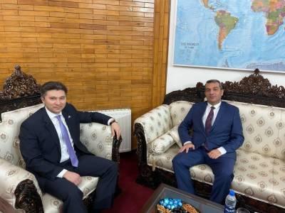 پاکستان میں آذربائیجان کے سفیر خضر فرہادوف کی قازقستان کے سفیر یرزہان کستافین سے ملاقات