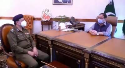وزیراعلیٰ پنجاب سے پنجاب کے نئے انسپکٹر جنرل پولیس سردار علی خان کی ملاقات