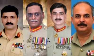 پاک فوج میں اعلیٰ سطح پر 4 تقرریاں اور تبادلے