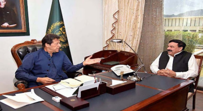 وزیراعظم عمران خان سے شیخ رشید کی ملاقات, افغانستان اور بارڈر منیجمنٹ کی صورتحال پر بریفنگ