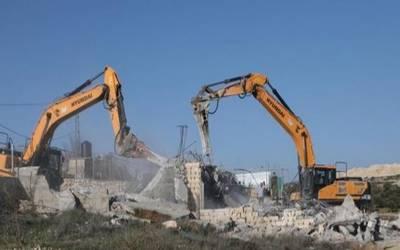 مقبوضہ بیت المقدس:فلسطینی خاندان کا مکان زبردستی مسمار کرادیا۔