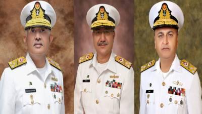 پاک بحریہ کے تین ریئر ایڈمرلز کو وائس ایڈمرل کے عہدے پر ترقی