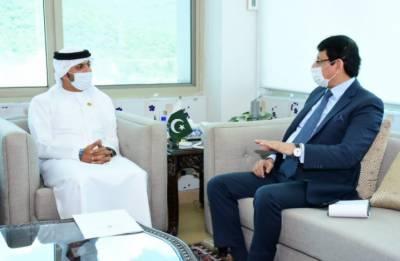 وفاقی وزیر آئی ٹی سید امین الحق سے پاکستان میں متحدہ عرب امارات کے سفیر حامد عبید ابراہیم الذابی کی ملاقات